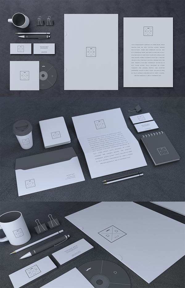 Free Clear Stationery Branding Mock Up