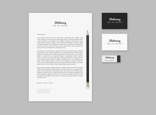 Free Branding / Stationary Mock-up Template