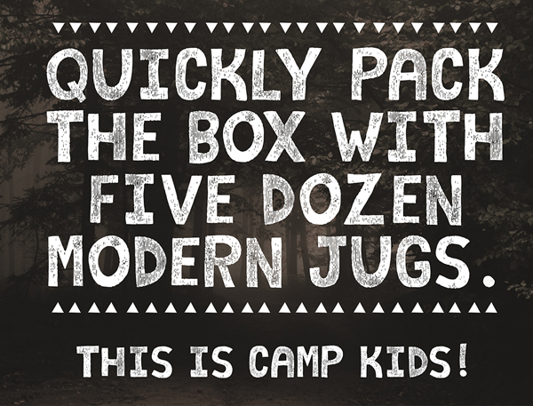 Camp Kids fonts and letters