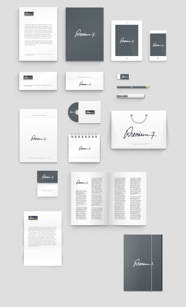 50+ free branding / identity & stationery psd mockups | freebies, Powerpoint templates