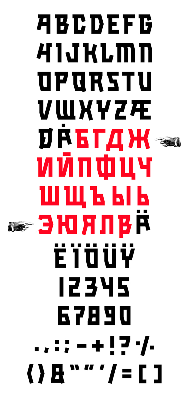 Kalashnikov fonts and letters