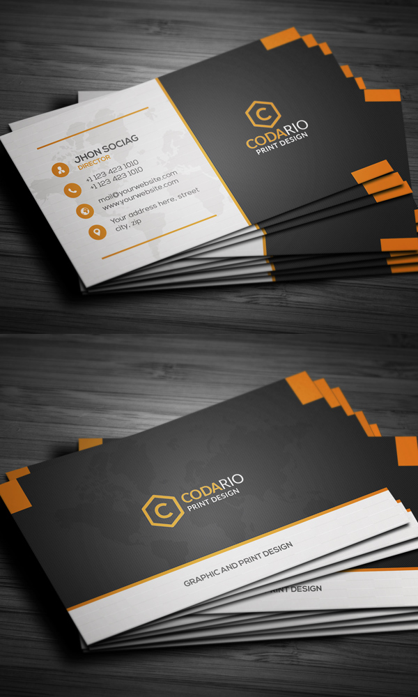 25 professional business cards template designs design graphic modern creative business cards colourmoves Image collections
