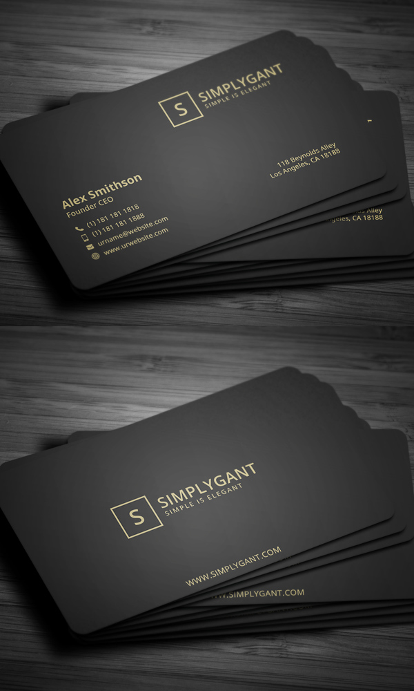 Luxurious Gold Business Card