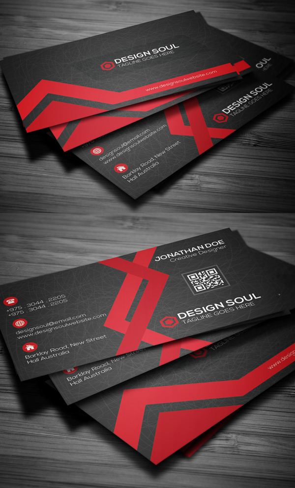Website design business card template