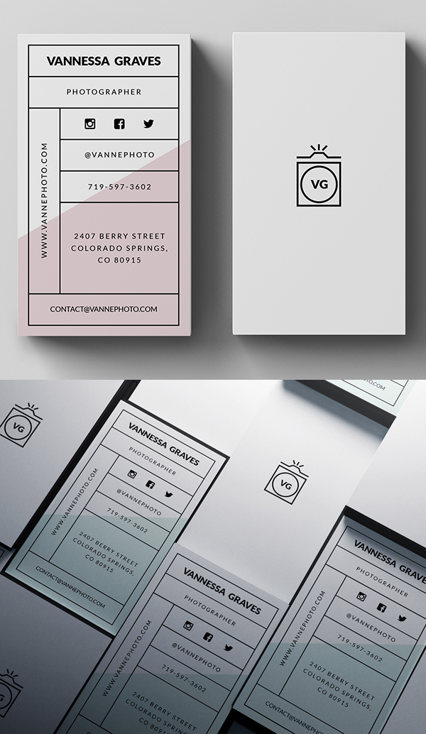 30 Minimalistic Business Card Designs (PSD) Templates | Design ...