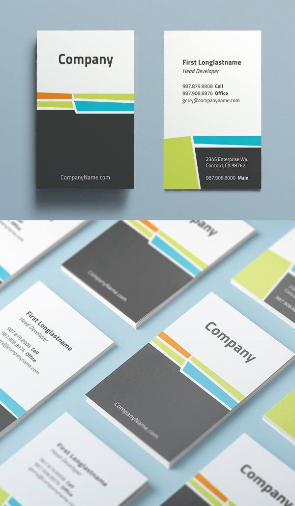 Clean + Quirky Business Card Design