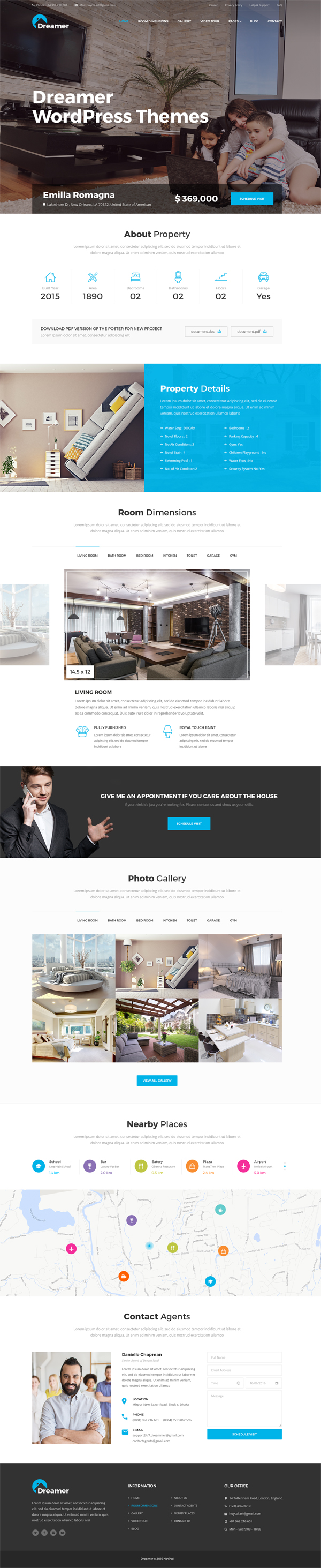 Dreamer - Single Property PSD Templates