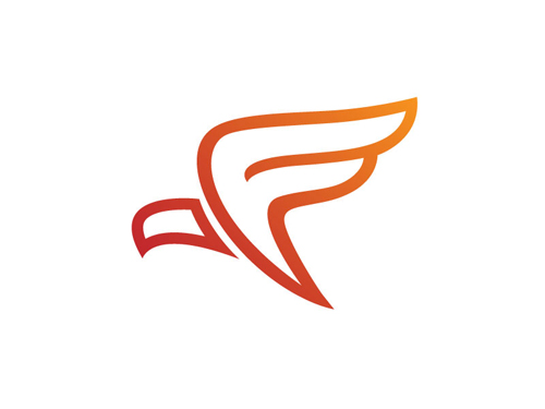 Firebird F Line Art Logo by Adam Weiss