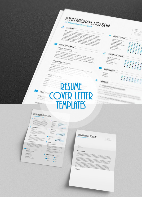 Free Minimalistic CV/Resume Templates With Cover Letter Template   15  Free Resume And Cover Letter Templates