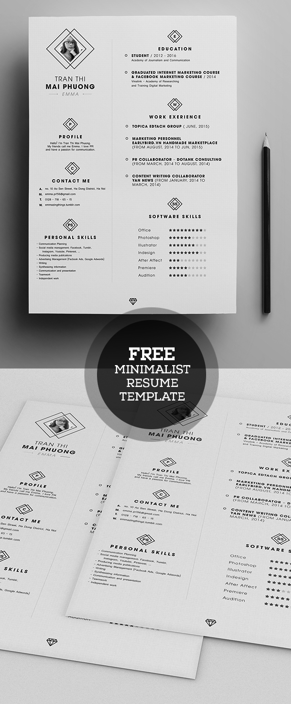 Free minimalistic cvresume templates with cover letter template free minimalistic cvresume templates with cover letter template 2 madrichimfo Images