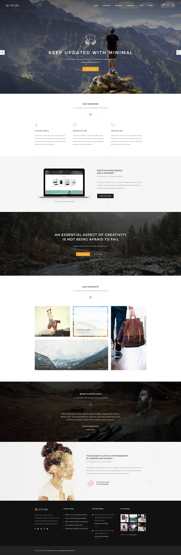 Styler - Creative Multi-Purpose PSD Template