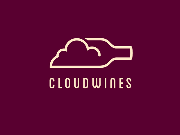 CloudWines Line Art Logo by Julien Paris