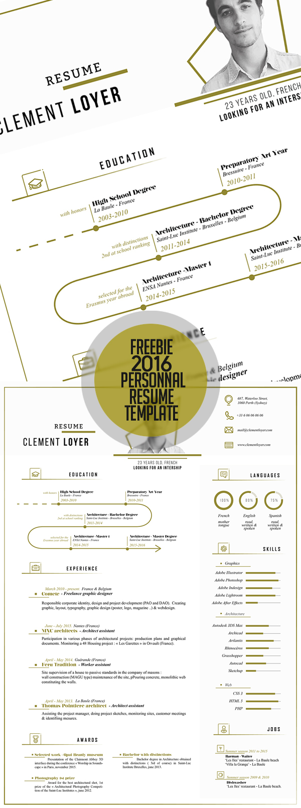 Free Fresh 2016 Resume Template