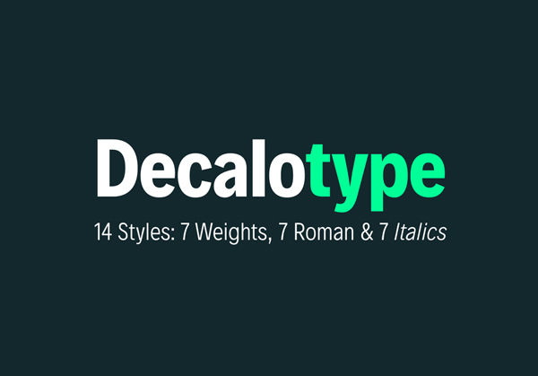 Decalotype free fonts