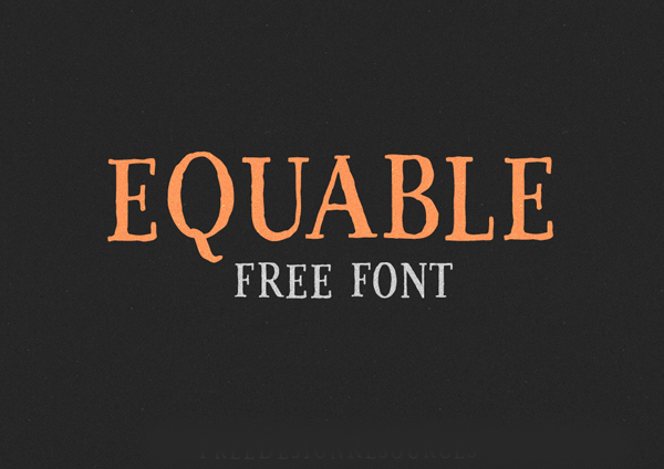 Equable free fonts