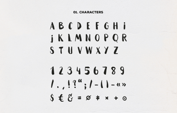 Hammock fonts and letters