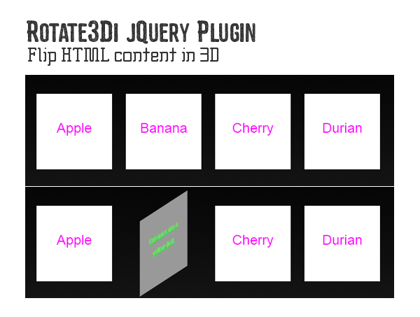 Rotate3Di jQuery Plugin
