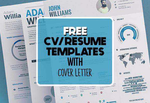 High Quality 17 Free Clean Modern CV / Resume Templates (PSD)
