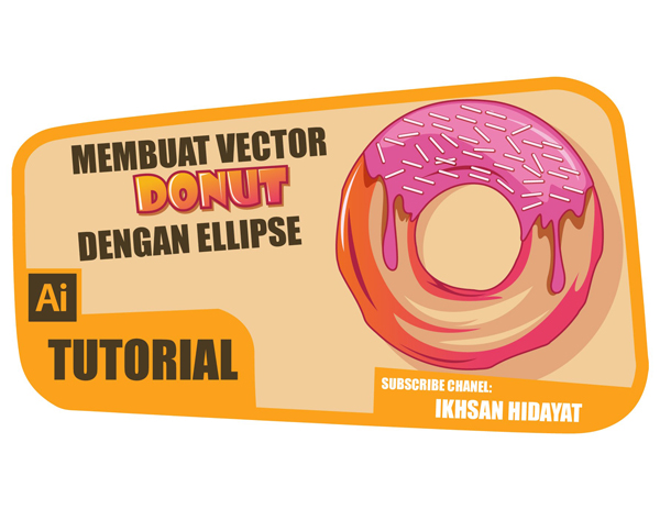 Cómo crear Donut Vector - Illustrator tutorials