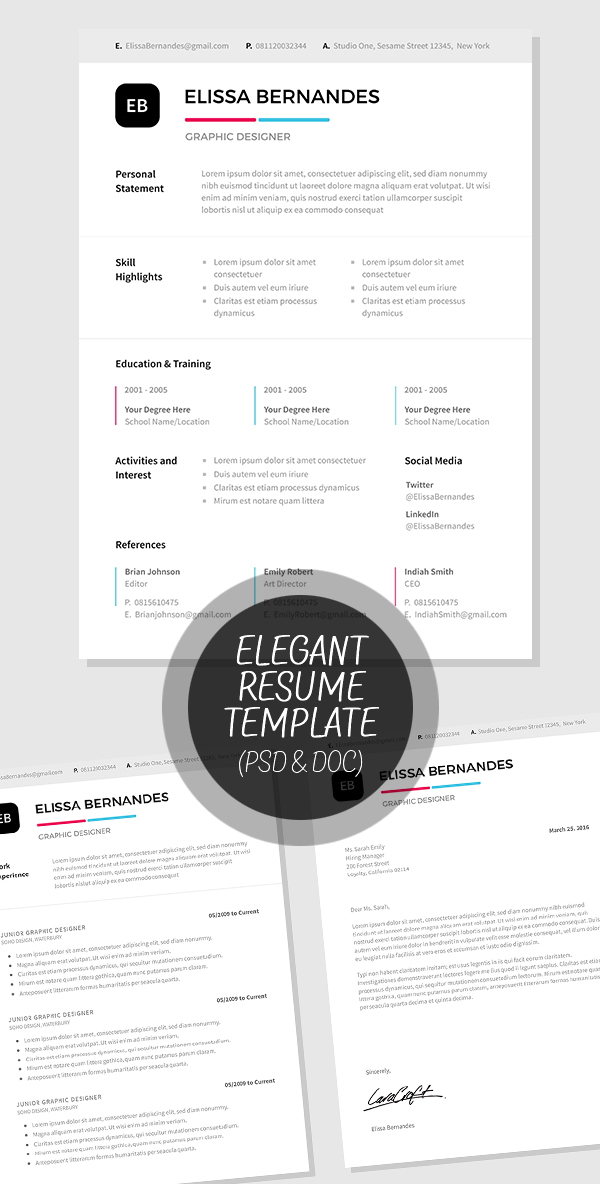 50 Best Minimal Resume Templates - 24