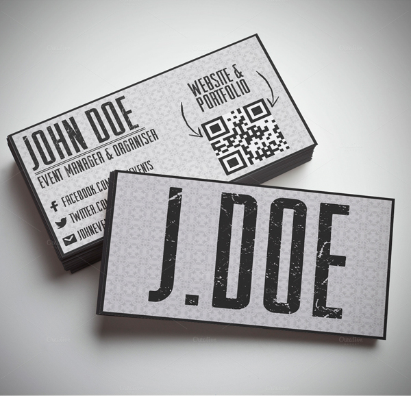 Typography Grungy Business Card