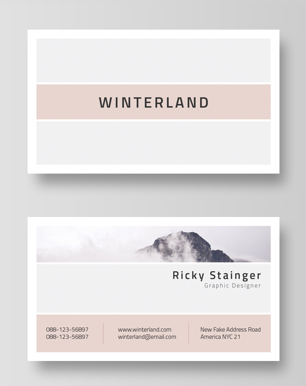 Creative business card psd templates 26 new design design minimal and clean business card template accmission Images