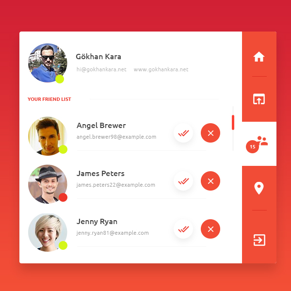 Free Creative ProfileBox UI Template