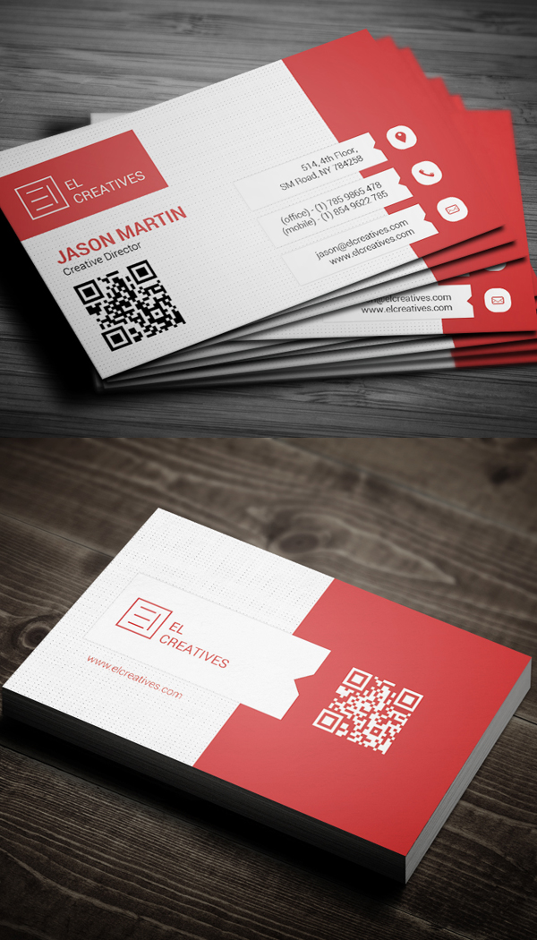 Creative business card psd templates 26 new design design red creative business card flashek Image collections