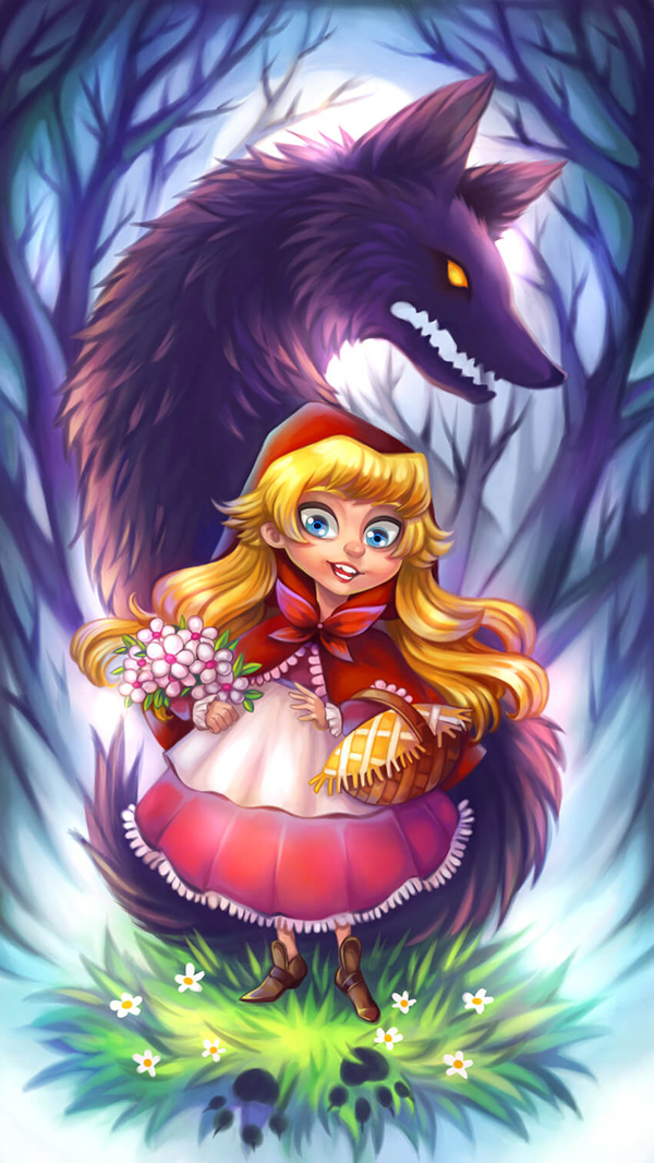 How to Create a Little Red Riding Hood Inspired Fairytale Illustration in Paint Tool SAI