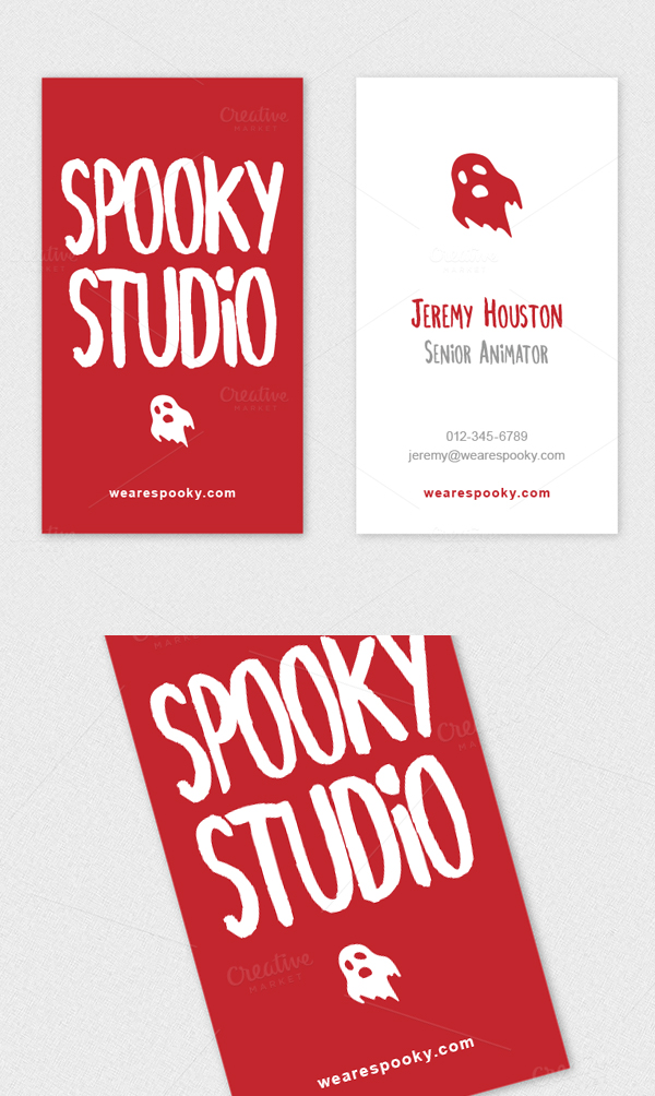 Ghost Logo Handwritten Business Card