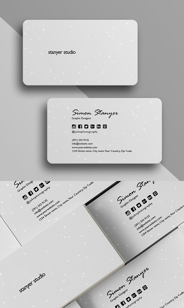 30 minimalistic business card designs psd templates design elegant minimal business card template accmission Choice Image