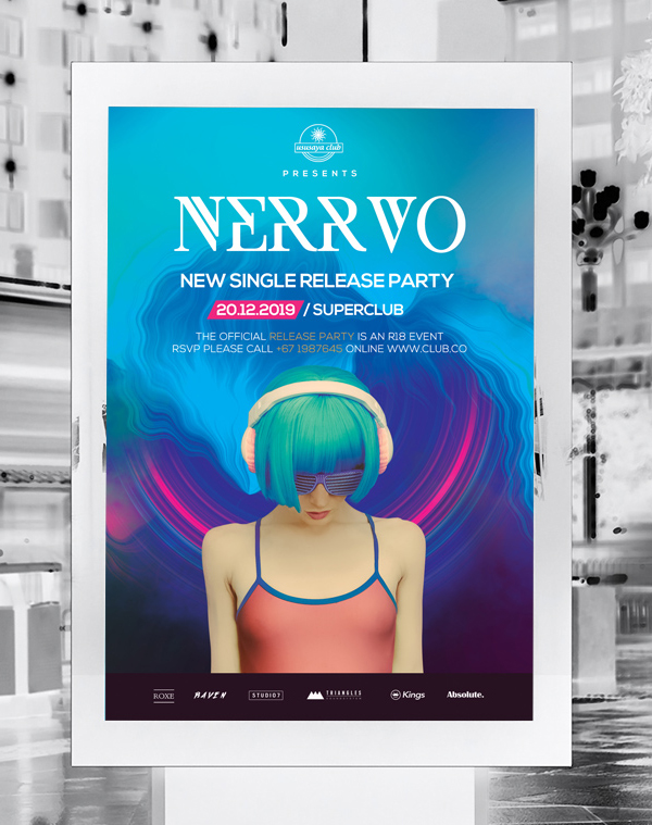 DJ Flyer Free Download PSD File