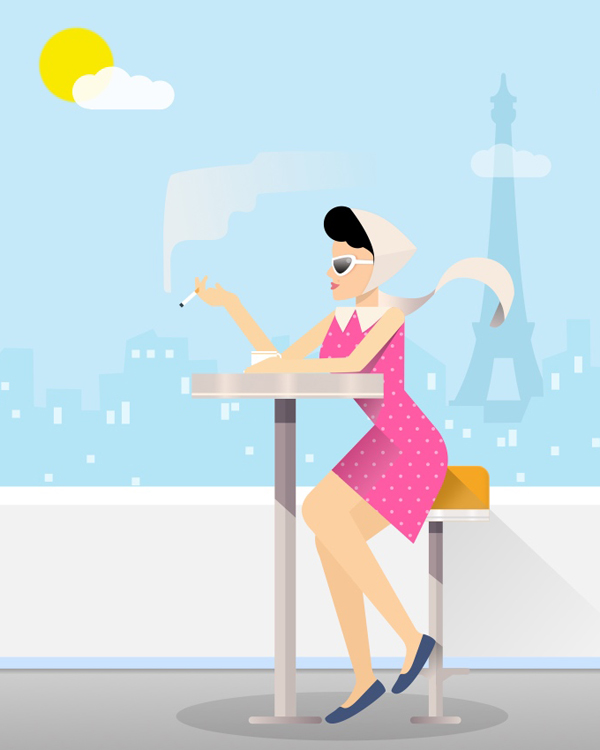 How to Create a Paris Lifestyle Illustration in Sketch