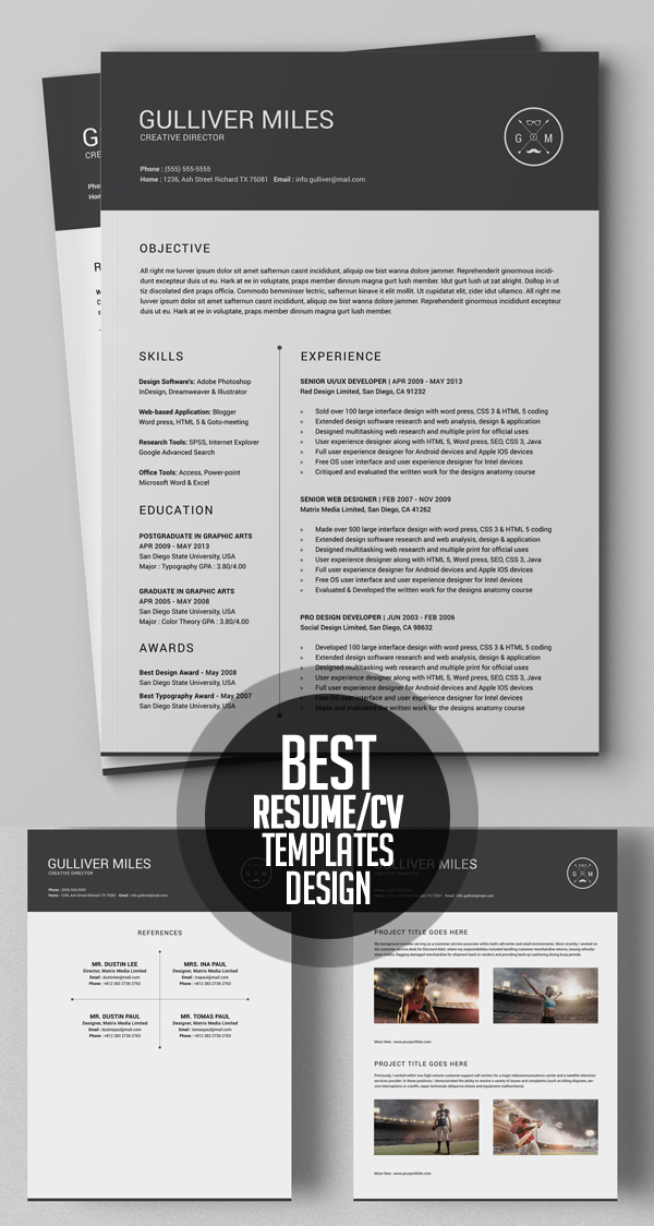 Best Resume Template Design (2 Pages Resume)  Pages Resume Template