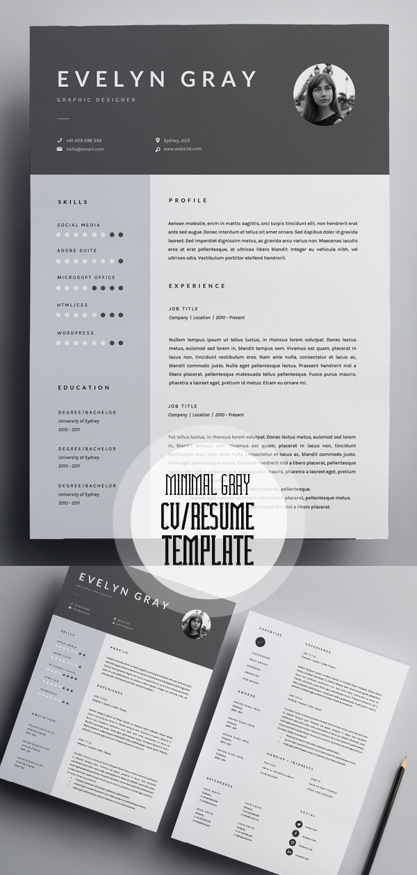 50 Best Minimal Resume Templates - 7