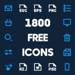 1800 Free Vector Icons for Web, iOS and Android UI Design