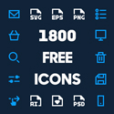 Post thumbnail of 1800 Free Vector Icons for Web, iOS and Android UI Design