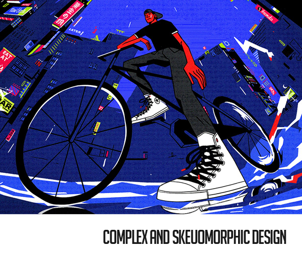 Complex and Skeuomorphic Design Trend