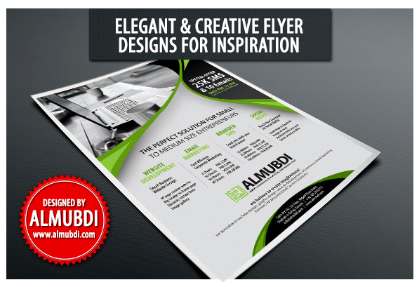 elegant flyer design