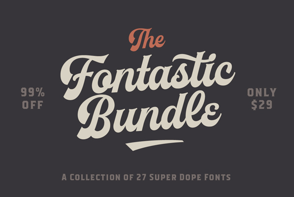 The Fontastic Bundle: 27 Fantastic Fonts