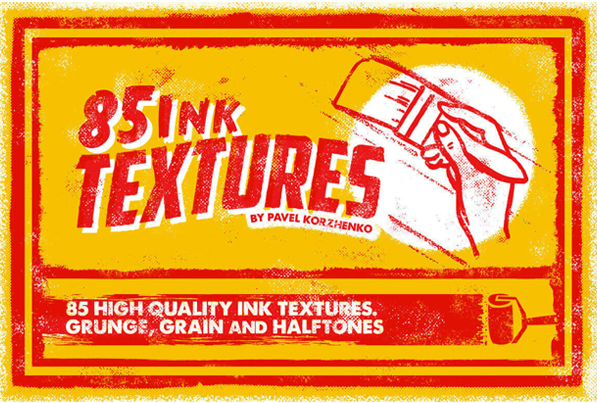 80+ High-Quality Ink Textures for Vintage Design