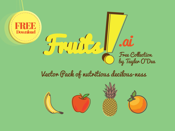 Free Fruits Background Vector Pattern