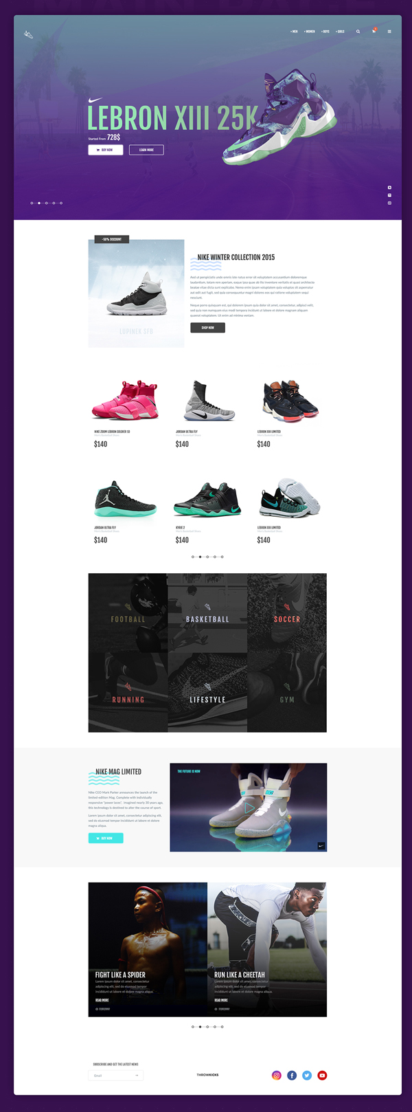 ThrowSneaks - Free Simple Shopping Template PSD