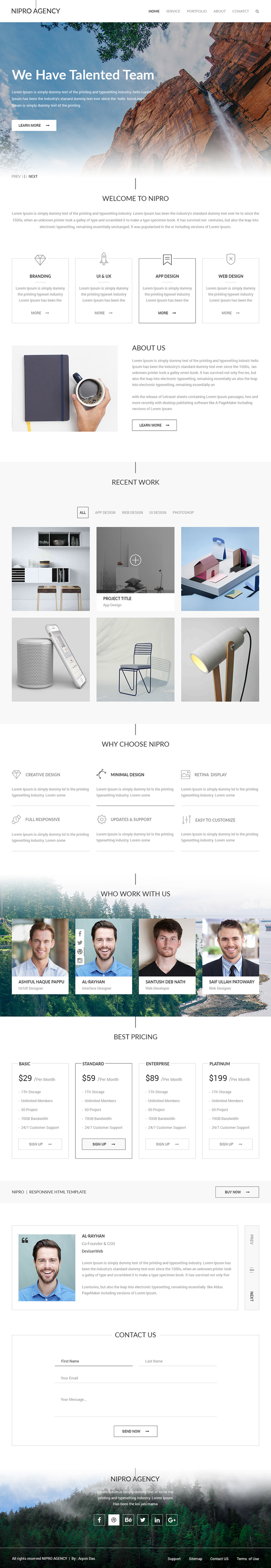Nipro Agency Free PSD Template