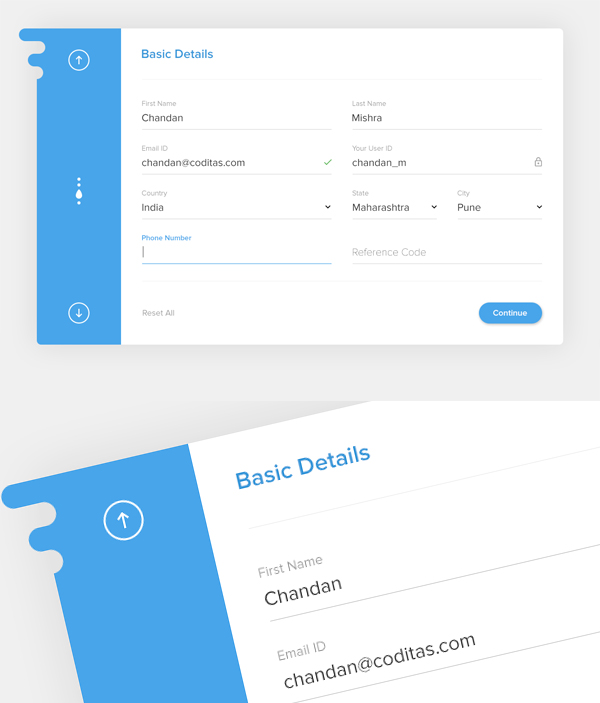 Free Material Registration Form UI