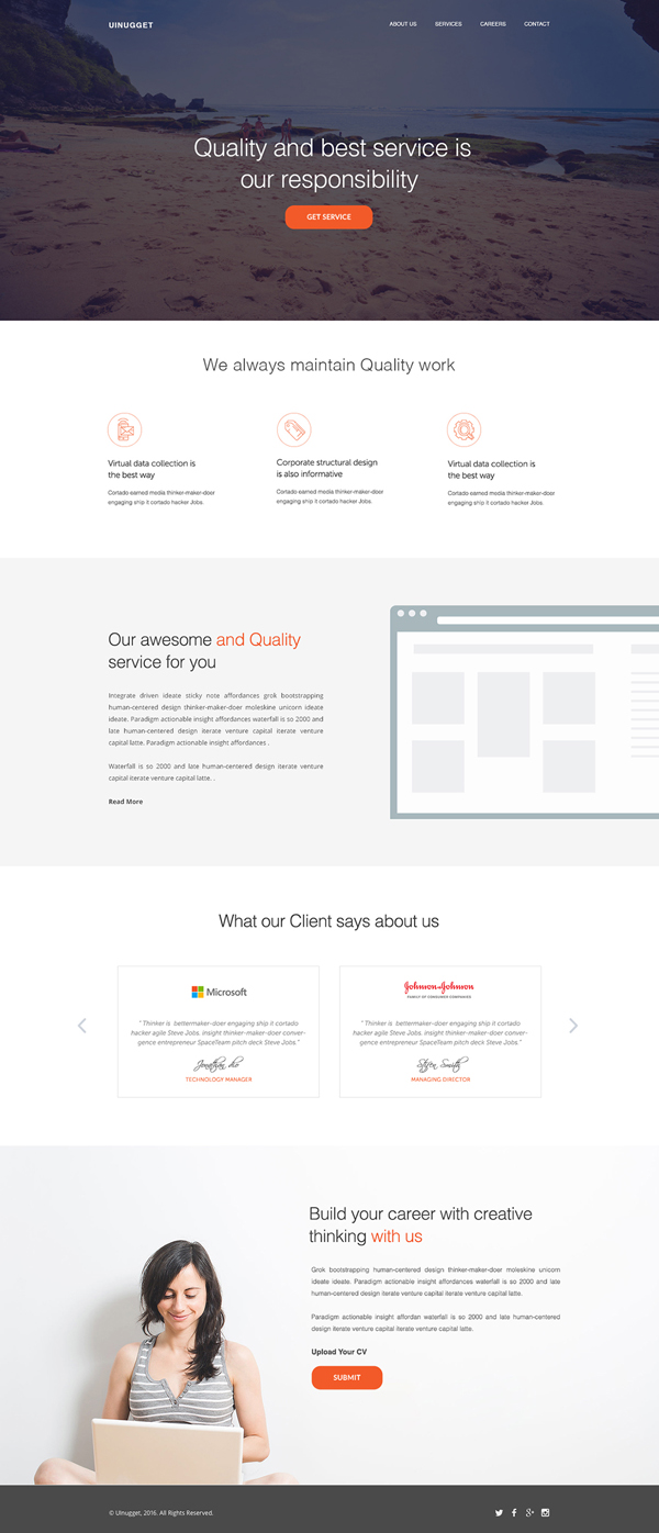 UINugget - Free PSD Template