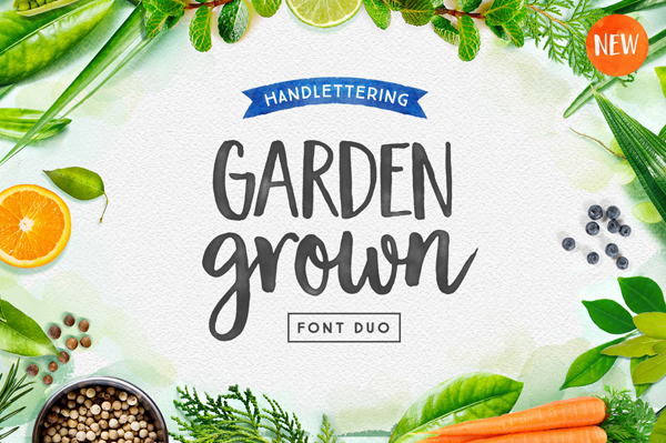Garden Grown Font Duo