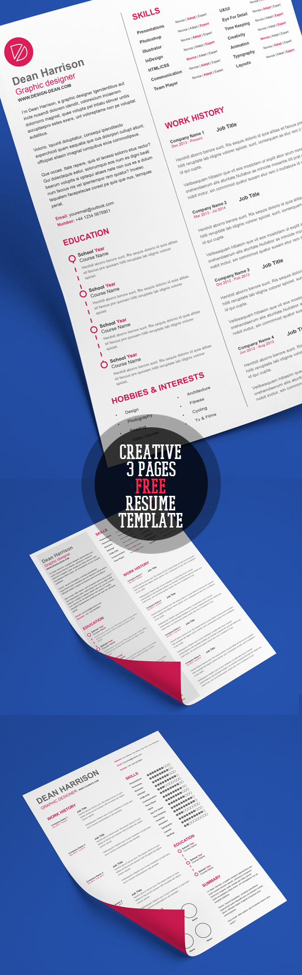 Creative A4 Free CV/Resume Template