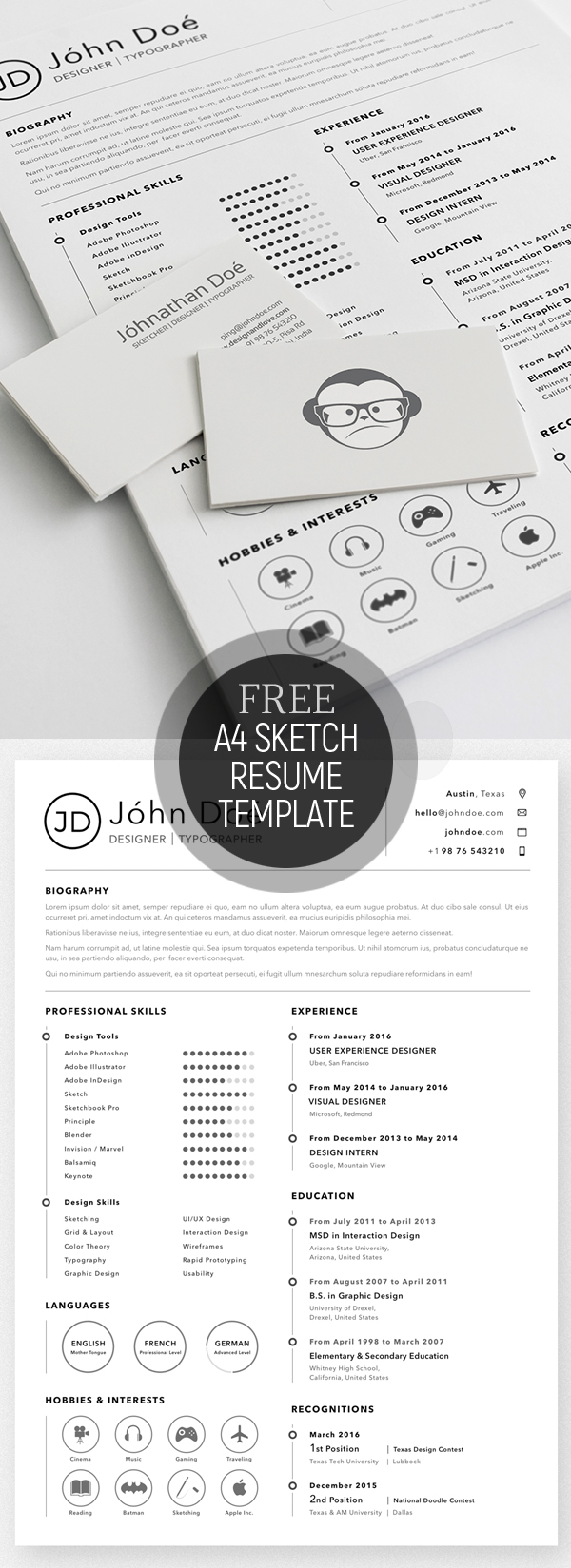 free a4 resume sketch template - Free Resumes Templates