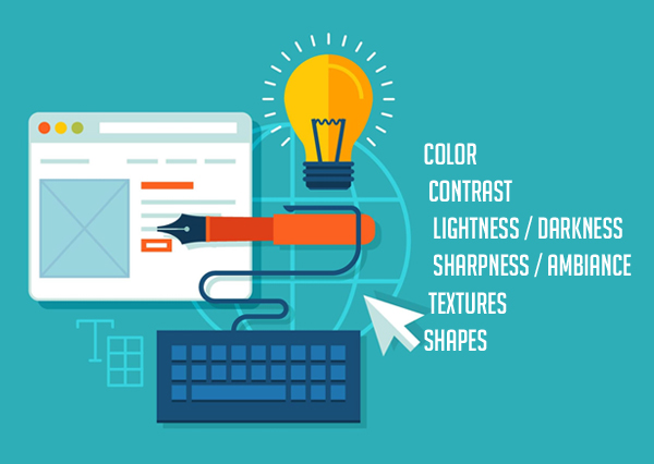 visual aspect of the web design